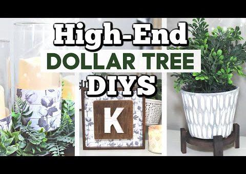 High-End Dollar Tree Decor Ideas You Can Make!   Dollar Tree DIY Farmhouse Decor   Krafts by Katelyn