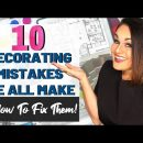 ⭐️INTERIOR DESIGN TIPS: 10 Decorating Mistakes We All Make + How To Fix Them!
