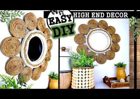 HIGH END DIY HOME DECOR IDEA   DOLLAR TREE MIRROR 2020