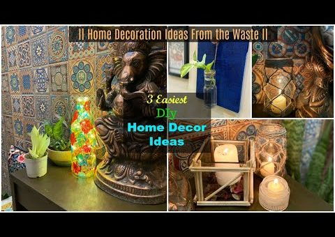 3 Easy DIY Home Decor Ideas from the Waste | Decorate your home in Budget | Best Out of Waste