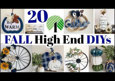 20 High End Dollar Tree DIYs – FALL Dollar Tree DIY Home Decor Dupes