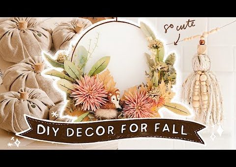 DIY FALL ROOM DECOR That's Actually CUTE!  🍂🌻  Easy + Affordable! (2020)