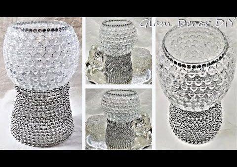 Dollar Tree DIY Glam Silver & Crystal Room Decor Ideas DIY Glam Home Decor