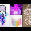 DIY – BEAUTIFUL ROOM DECOR IDEAS YOU WILL LOVE – Dream Catcher – Butterfly Wall Hanging and more