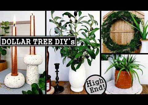 $1 DIY HOME DECOR IDEAS | DOLLAR TREE DIY's 2021 | Anthropologie Inspired
