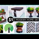 NEW DOLLAR TREE DIY MODERN & BOHO Style HOME DECOR | Clean & Natural High End Look With $1 Items