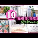 10 *MUST SEE* Trash to Treasure Projects| Upcycle DIY Home Decor | Thrifted Upcycle