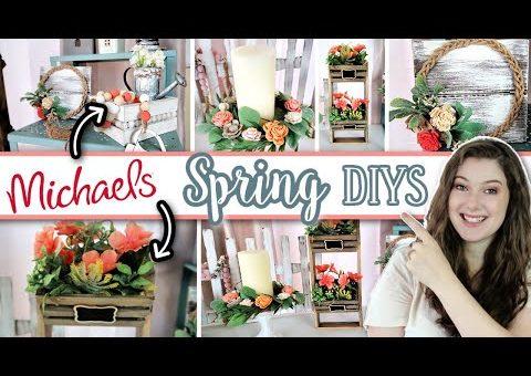 MICHAELS Even BETTER Than DOLLAR TREE?? | Spring Home Decor DIYS + GIVEAWAY!