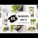 18 MODERN DIY'S | HIGH-END MODERN DIYS | MODERN STYLE HOME DECOR DIYS | $1 DIY MODERN DECOR | DIY
