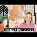 DIY Trendy Boho DOLLAR STORE Home Decor 💵 Faux Pottery Vase, Fluted Planter, Textile Wall Decor