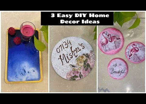 3 Easiest DIY Home Decor Ideas | 5 Minutes Easy Craft Ideas | Organizopedia