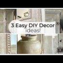 3 Home Decor DIY: Chalk Painted Furniture, chalk paint ancient vase & mirror| ASMR home decor