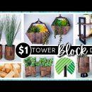 *NEW* DOLLAR TREE DIY using TUMBLING TOWER BLOCKS |  Home Decor Crafts | Modern Farmhouse Boho Decor