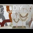 3 Boho DIY Home Decor/ Large Plaster Texture Wall Art/ Boho Statue & Boho Vase