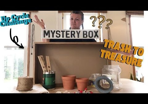TRASH TO TREASURE *Mystery Box* UPCYCLE Challenge! DIY Home Decor (found in your dads garage)