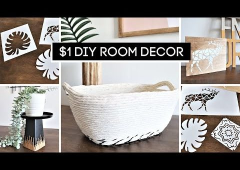 WOW! Stunning DIY Home Decor On A Budget + How To Make A Reusable Stencil