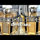 DOLLAR TREE HOME Decor/ Gold COFFEE TABLE DIY!